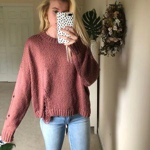 Boohoo distressed sweater